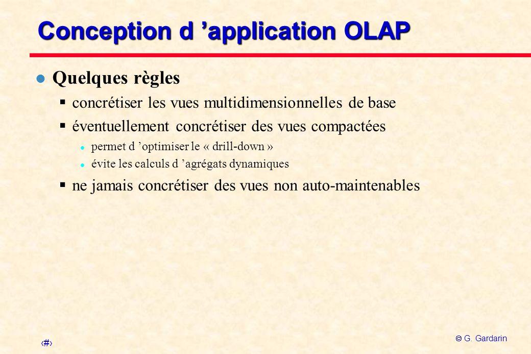 Conception d 'application OLAP