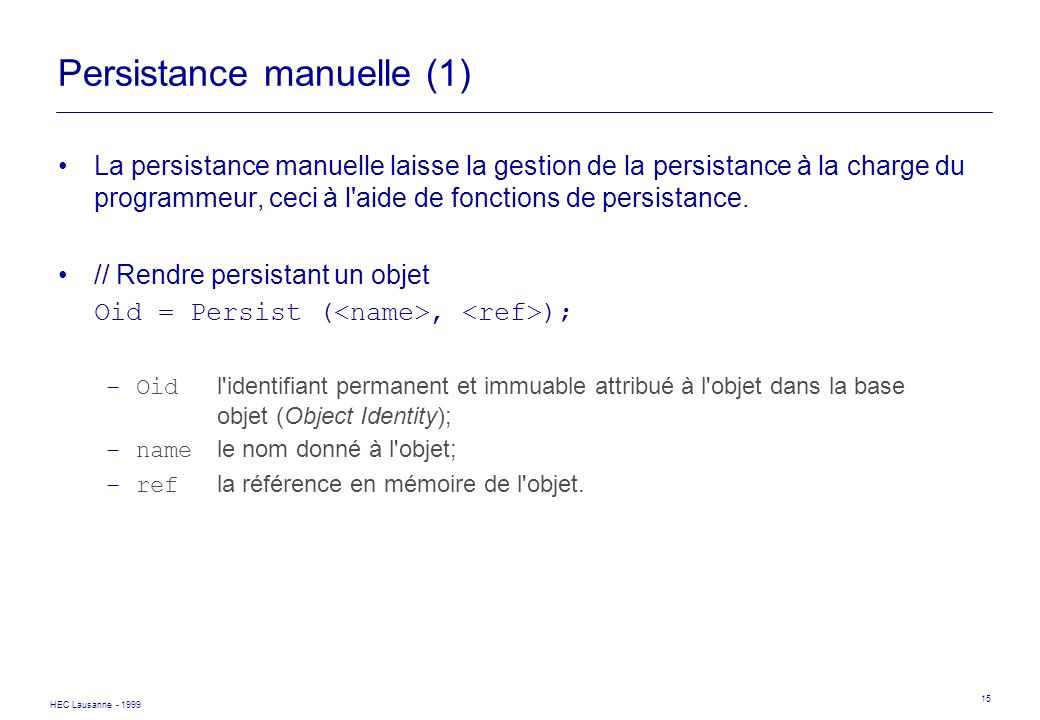 Persistance manuelle (1)