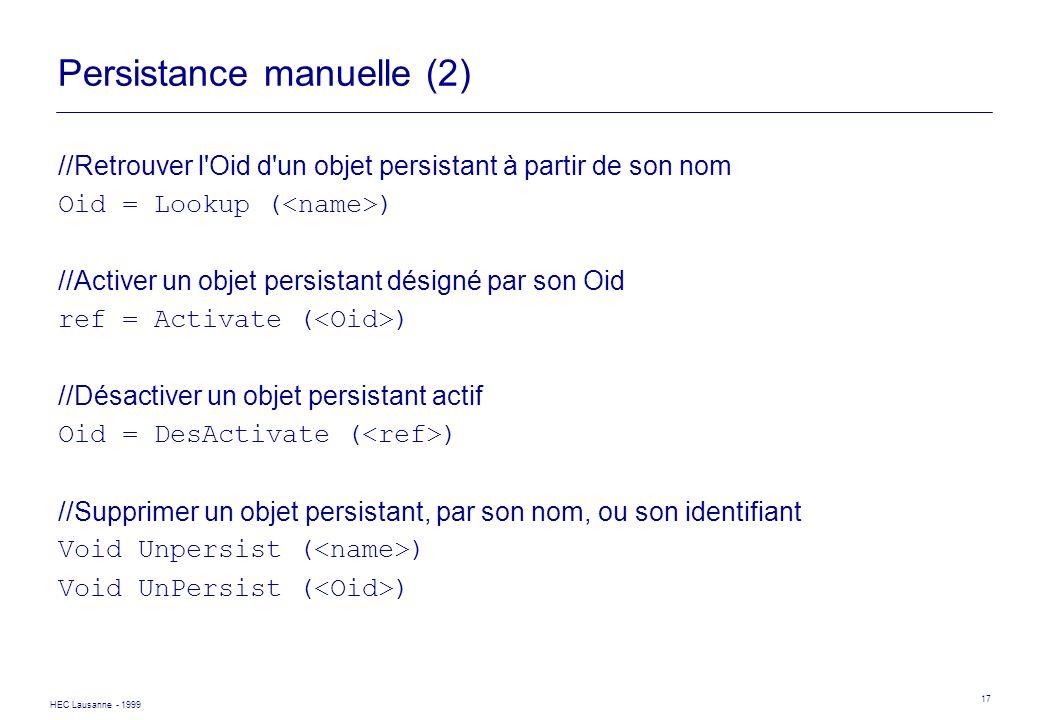 Persistance manuelle (2)