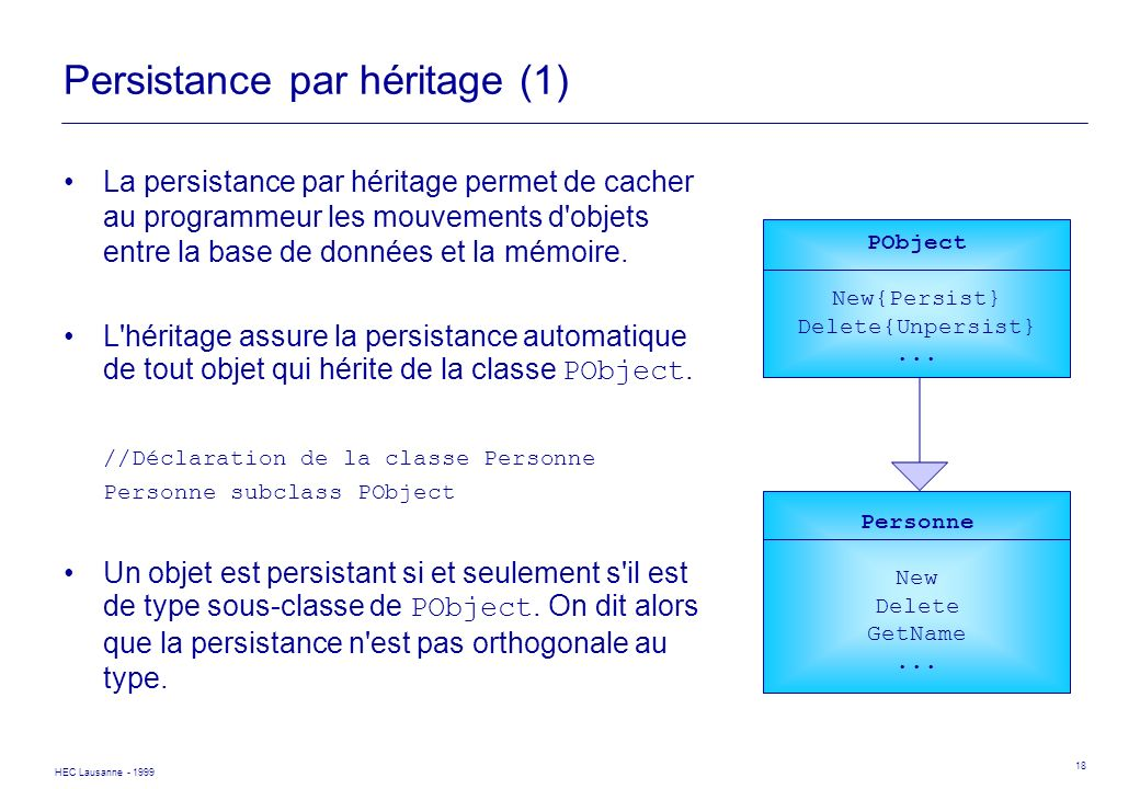 Persistance par héritage (1)
