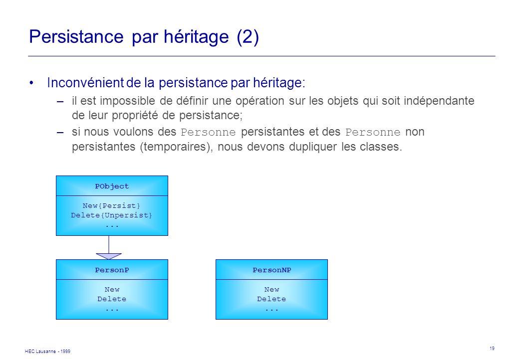 Persistance par héritage (2)