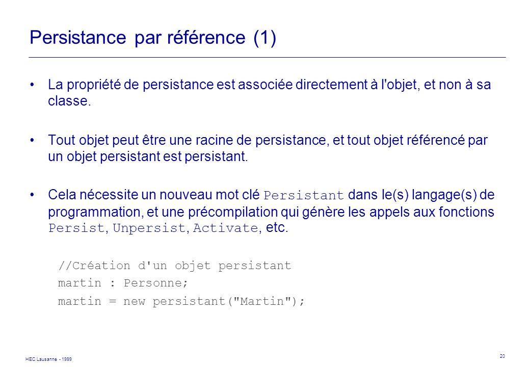 Persistance par référence (1)