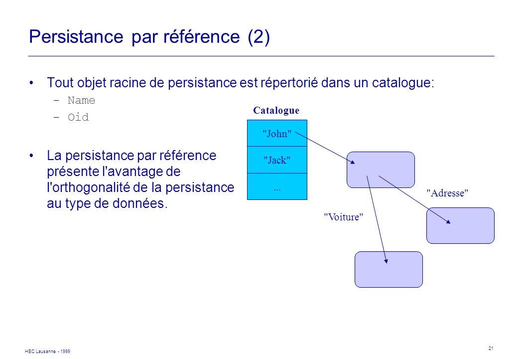 Persistance par référence (2)