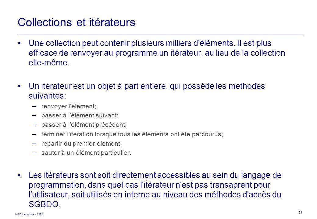 Collections et itérateurs