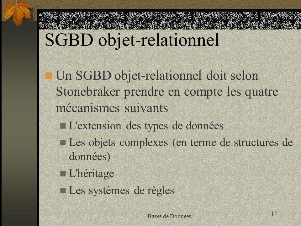 SGBD objet-relationnel