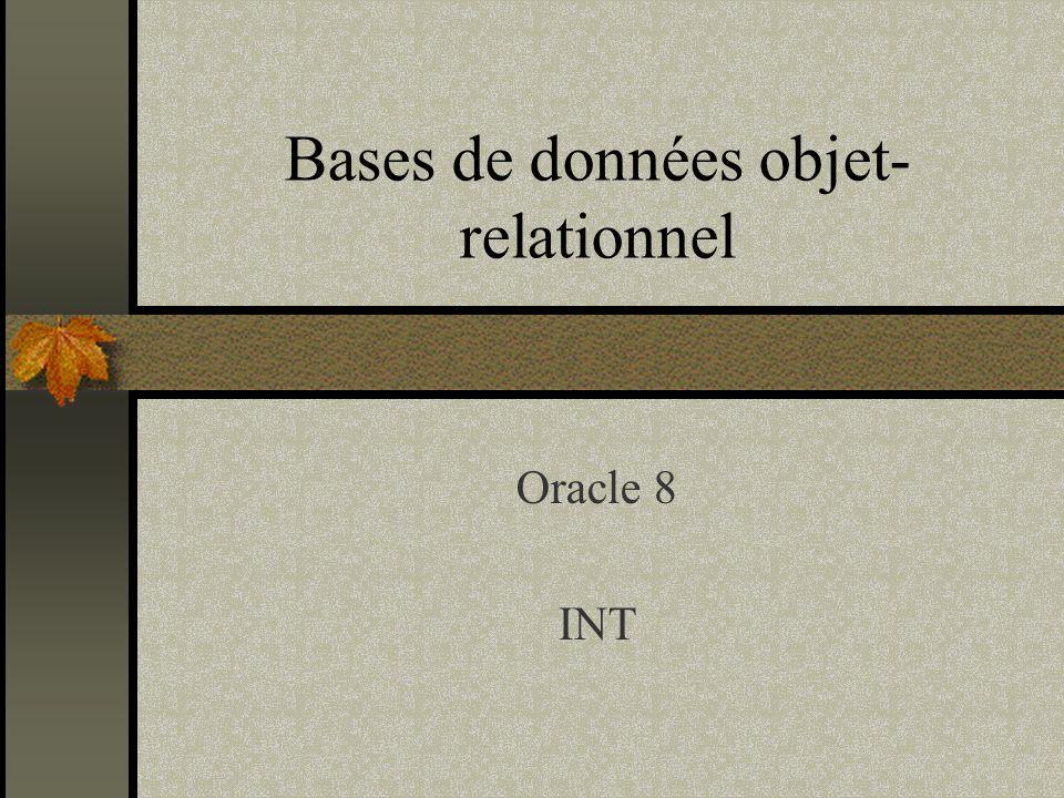 Bases de données objet-relationnel