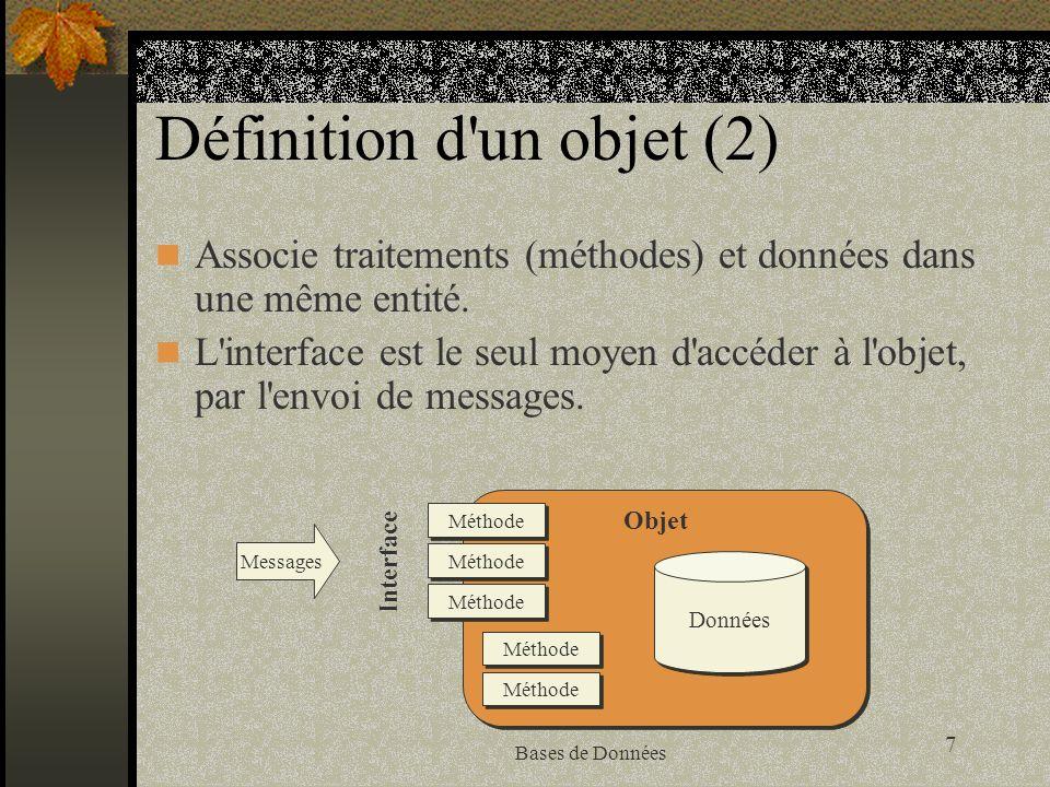 Définition d un objet (2)