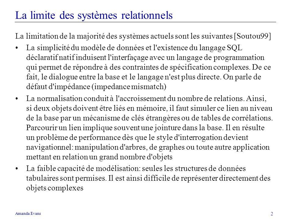 La limite des systèmes relationnels