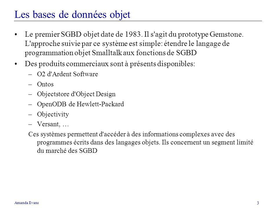 Les bases de données objet