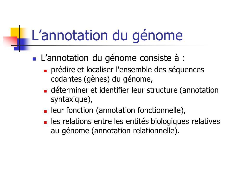 L'annotation du génome