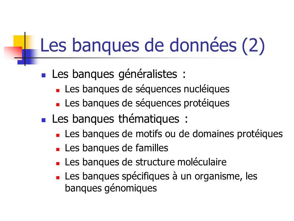 Les banques de données (2)