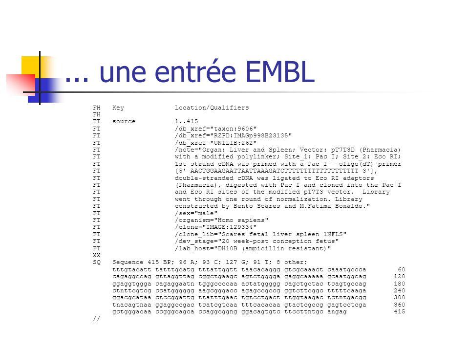 ... une entrée EMBL
