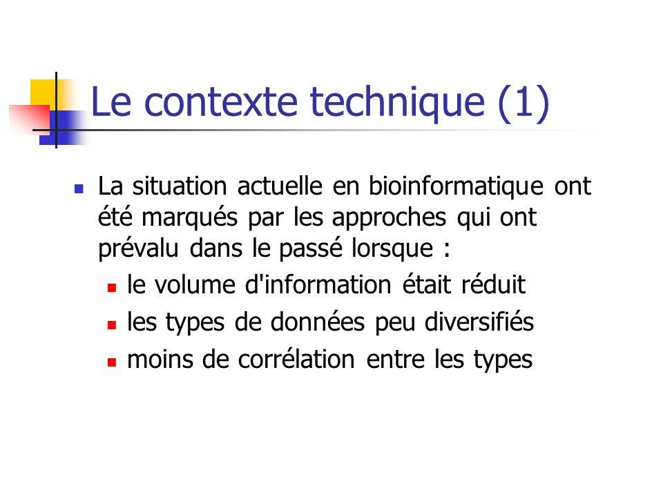 Le contexte technique (1)