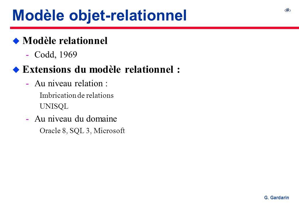 Modèle objet-relationnel