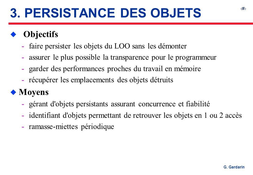 3. PERSISTANCE DES OBJETS