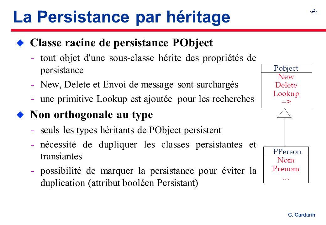La Persistance par héritage