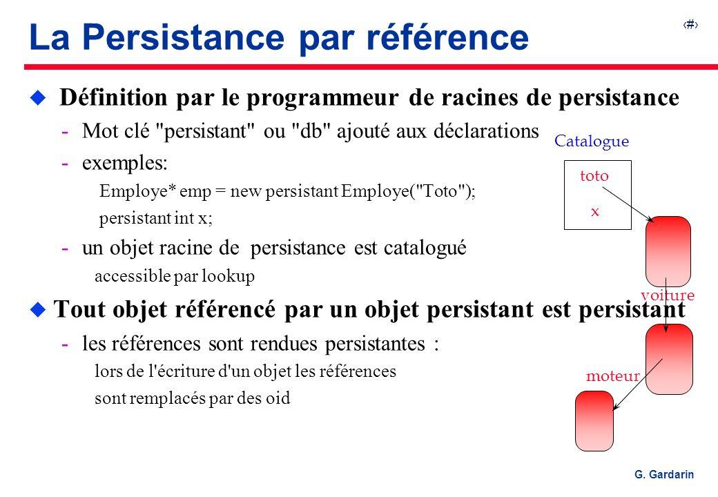 La Persistance par référence
