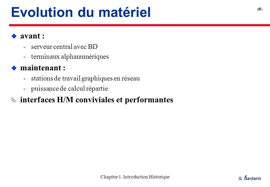 Chapitre 1. Introduction.Historique