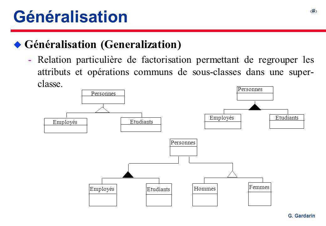 Généralisation Généralisation (Generalization)