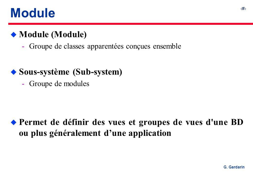Module Module (Module) Sous-système (Sub-system)