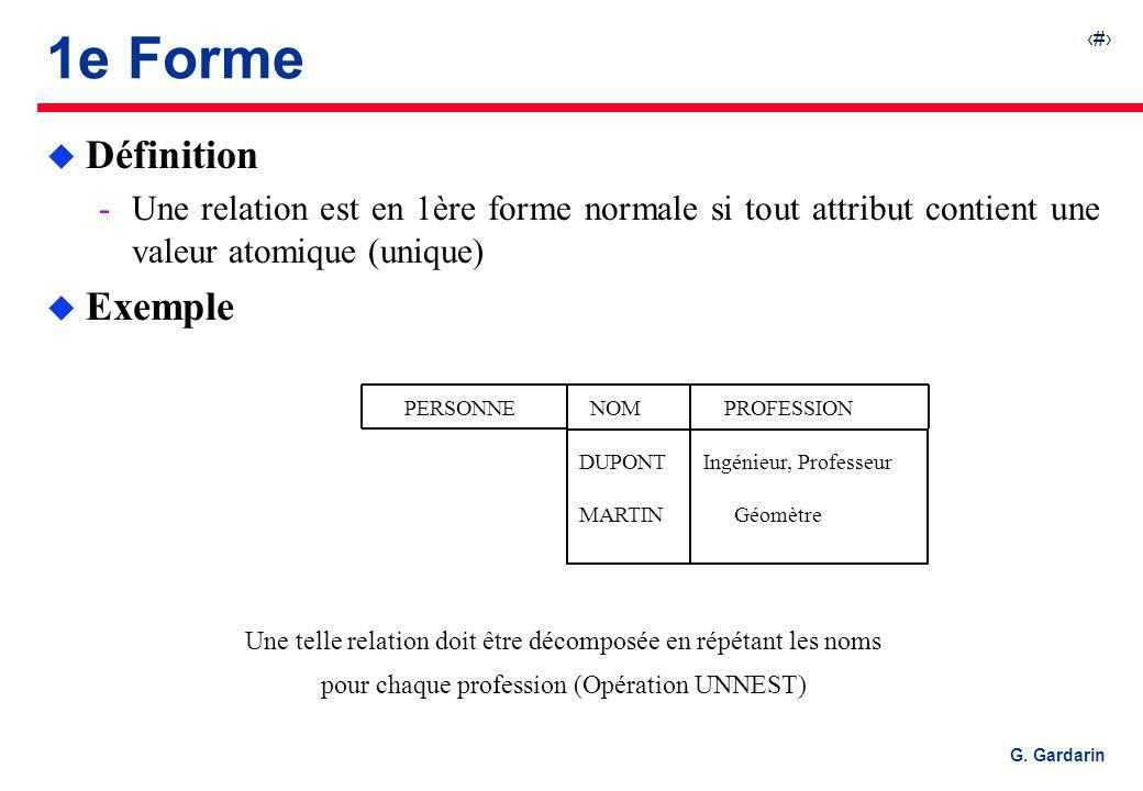 1e Forme Définition Exemple