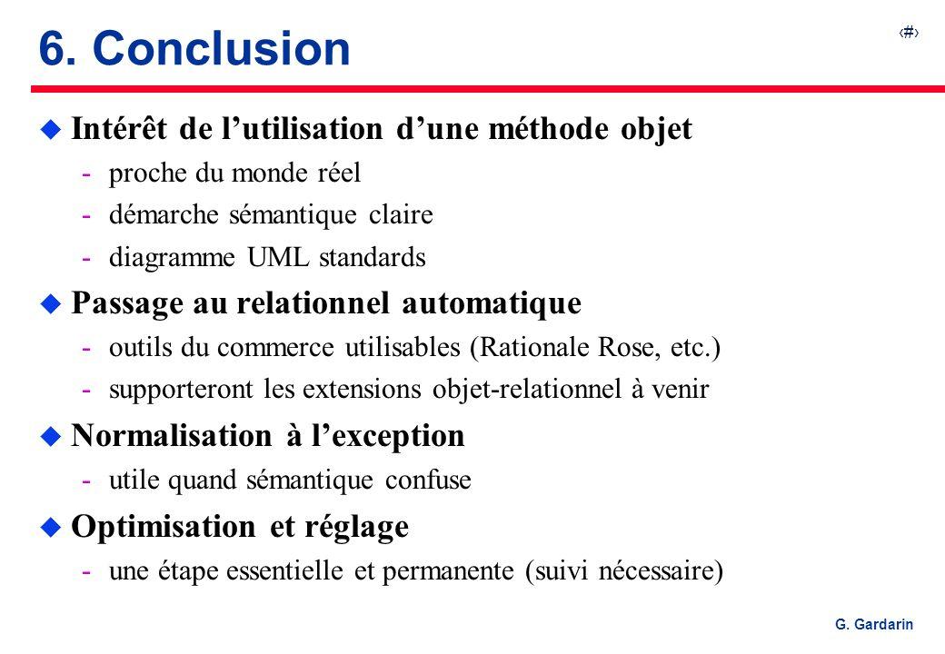 6. Conclusion Intérêt de l'utilisation d'une méthode objet