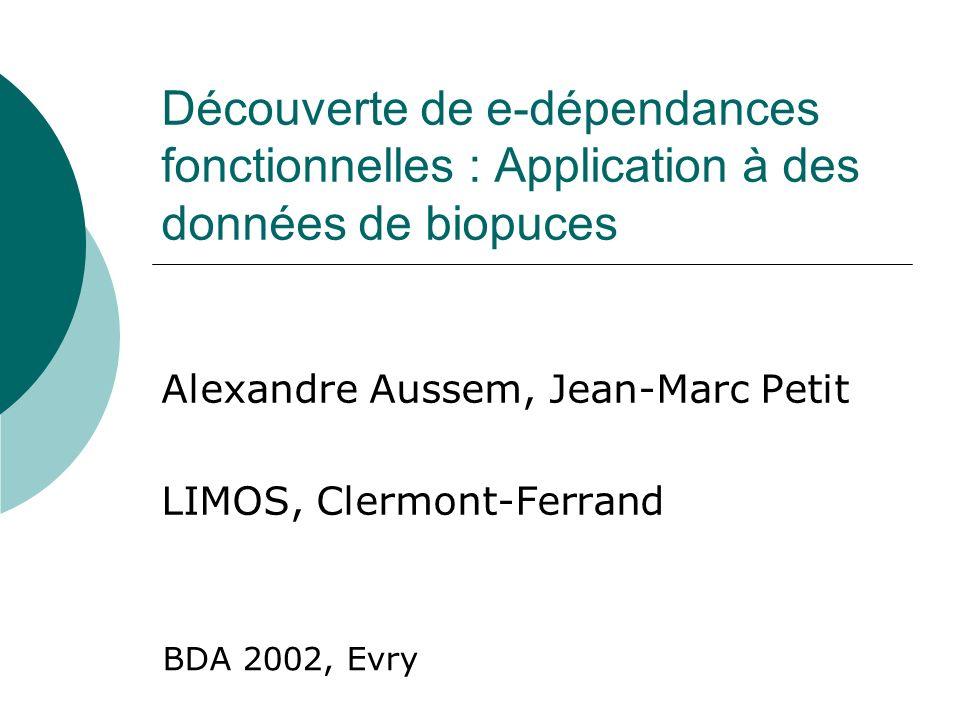 Alexandre Aussem, Jean-Marc Petit LIMOS, Clermont-Ferrand