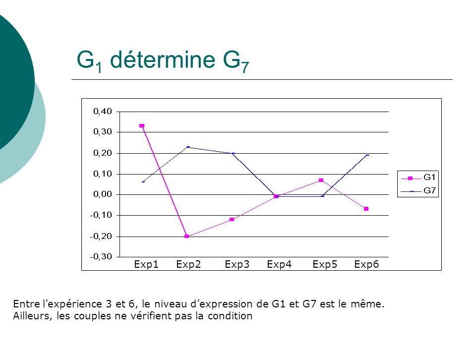 G1 détermine G7 Exp1 Exp2 Exp3 Exp4 Exp5 Exp6