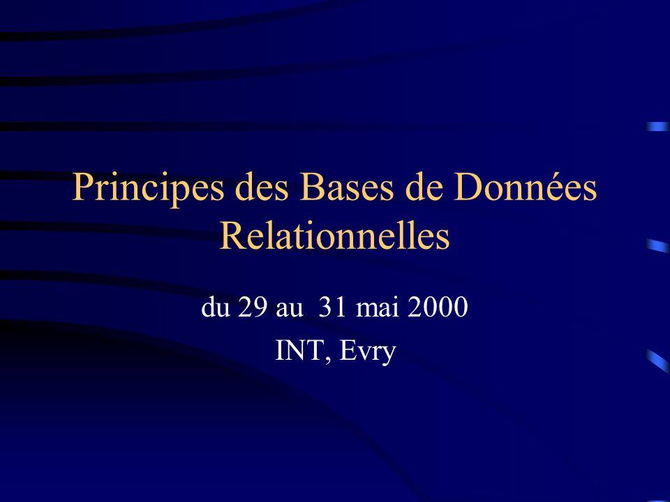 Principes des Bases de Données Relationnelles