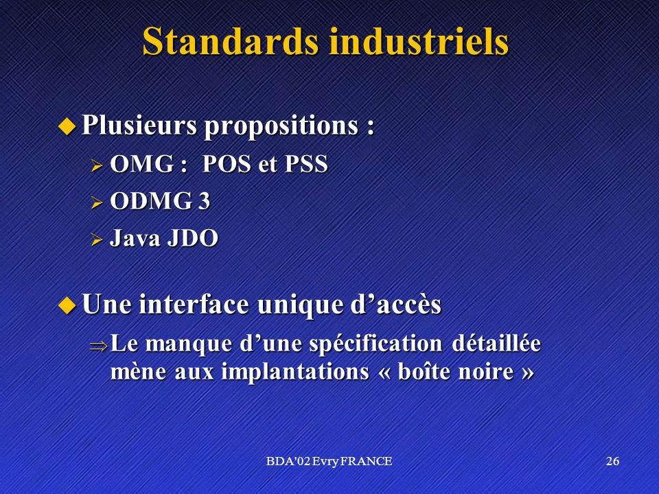 Standards industriels