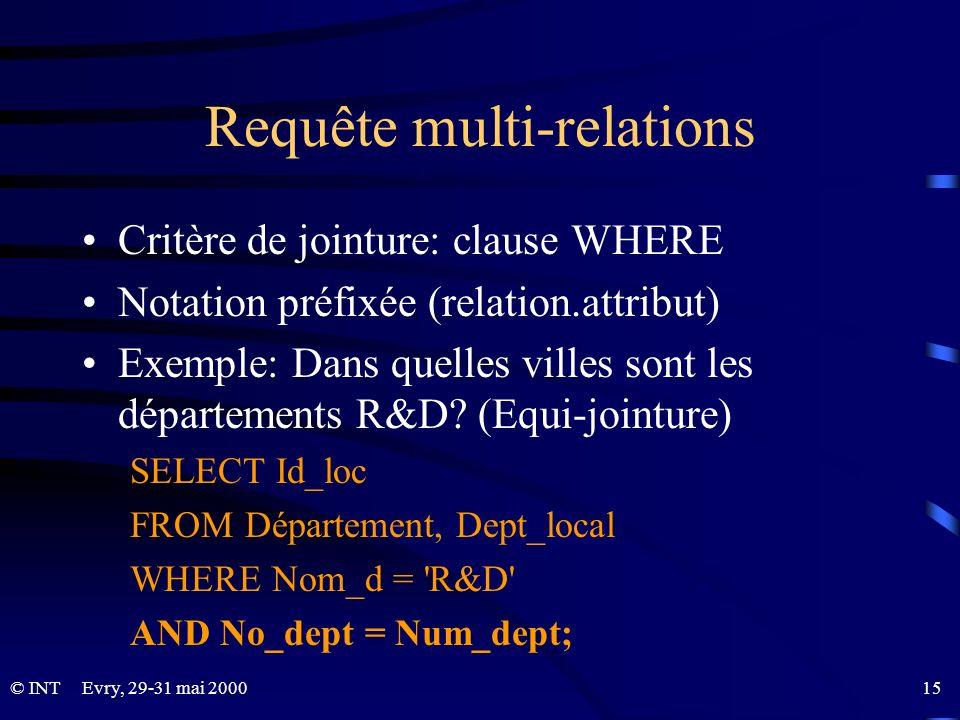 Requête multi-relations