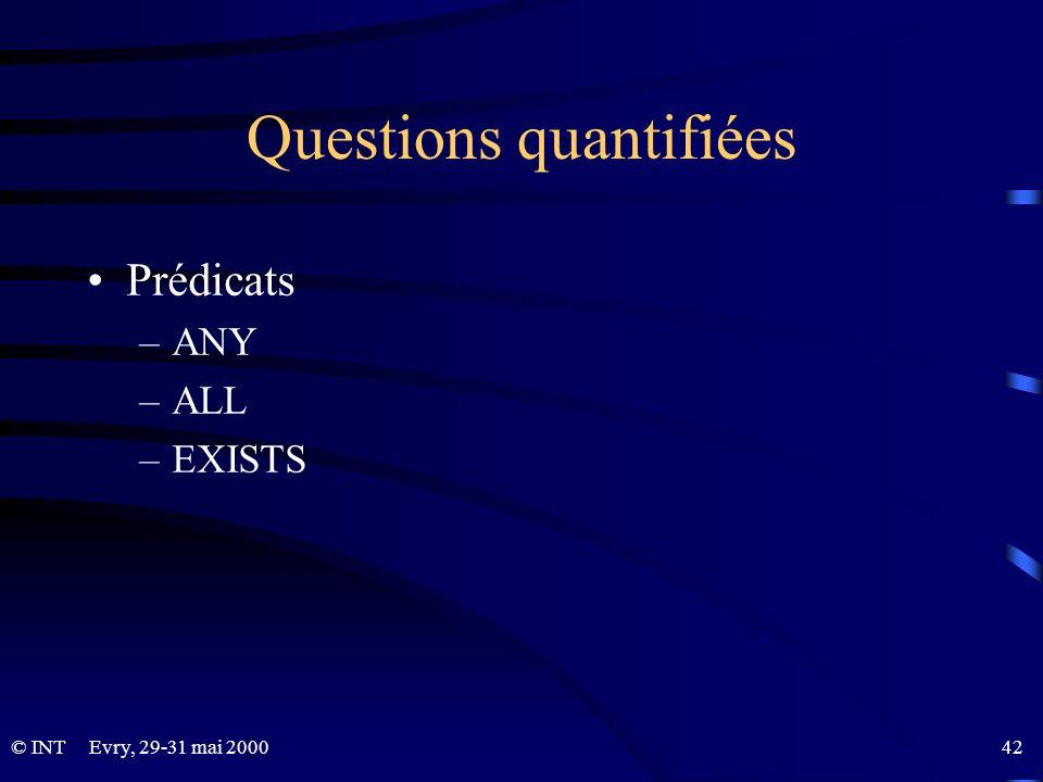 Questions quantifiées