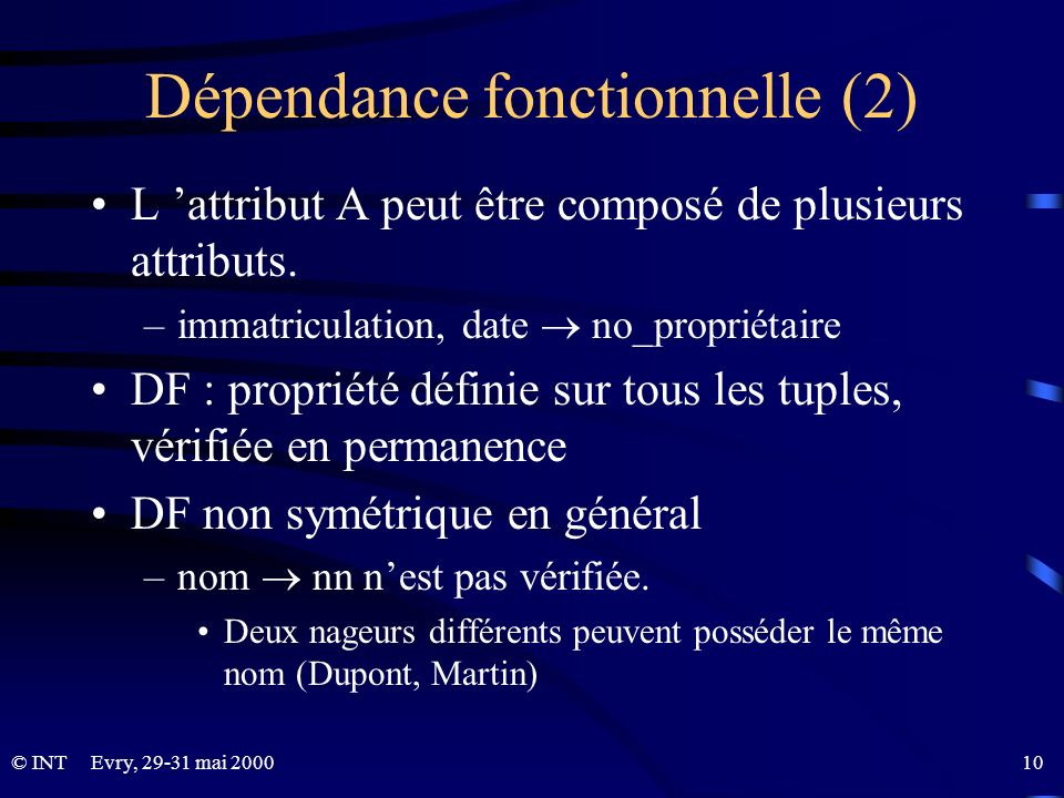 Dépendance fonctionnelle (2)