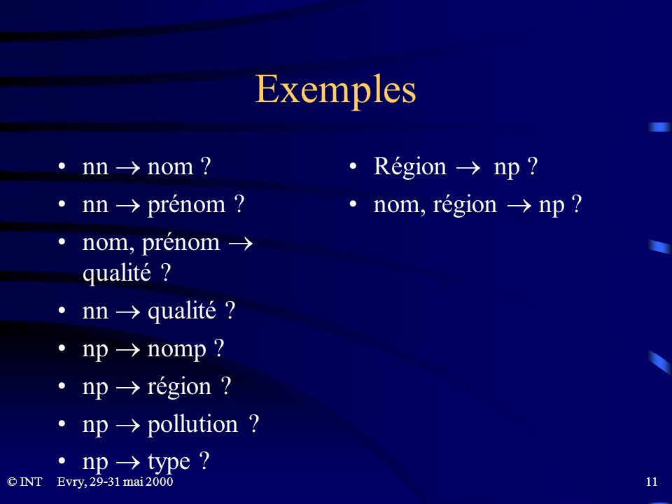 Exemples nn  nom nn  prénom nom, prénom  qualité