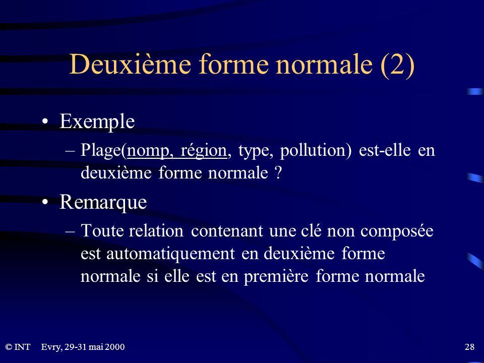 Deuxième forme normale (2)