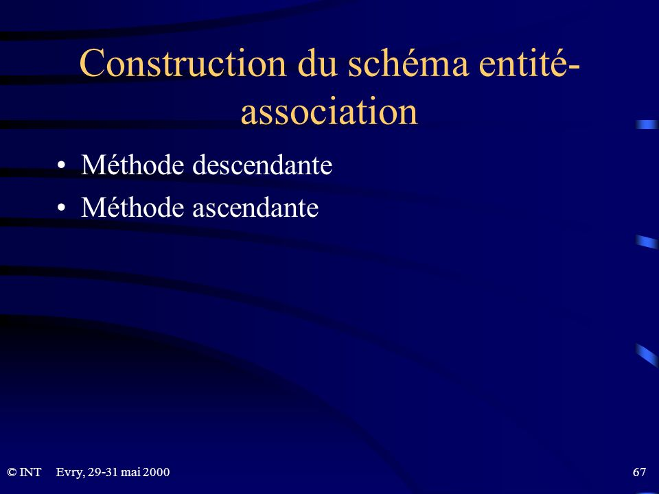 Construction du schéma entité-association