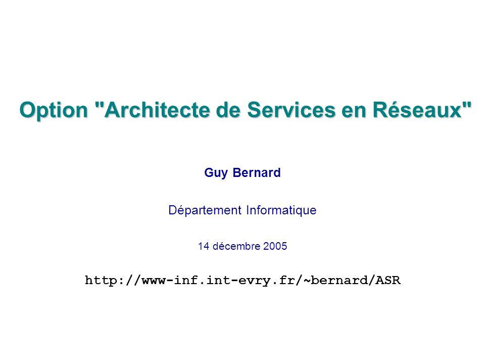 Option Architecte de Services en Réseaux
