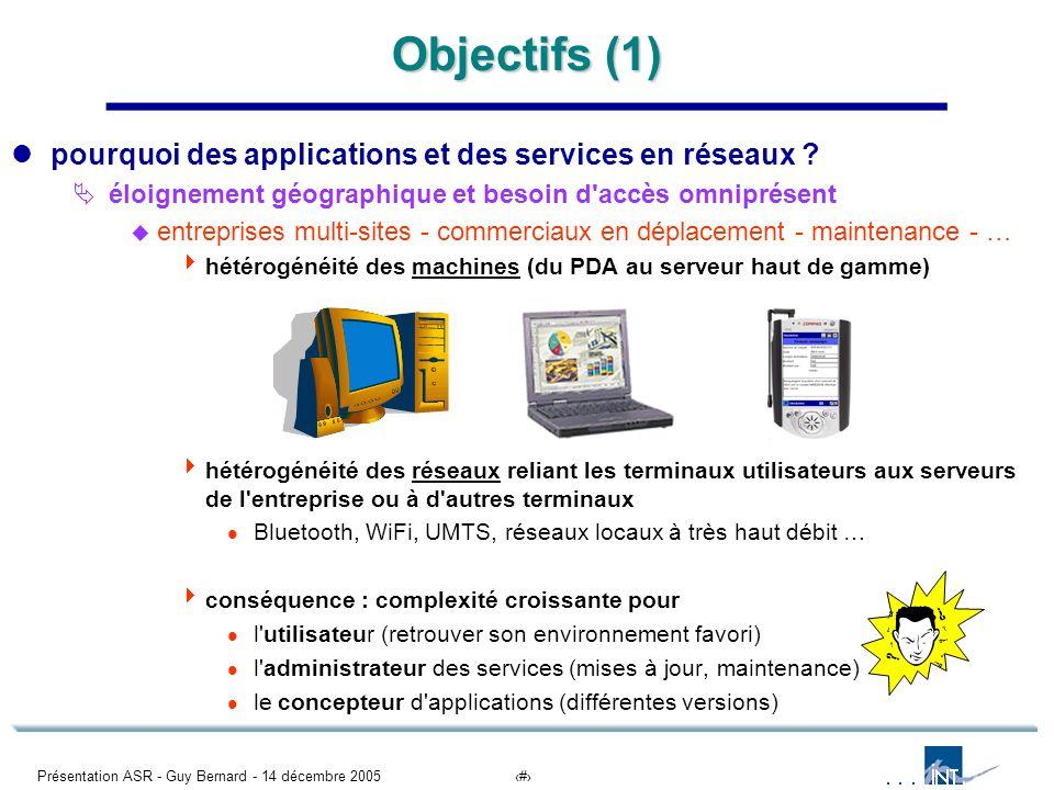Objectifs (1) pourquoi des applications et des services en réseaux
