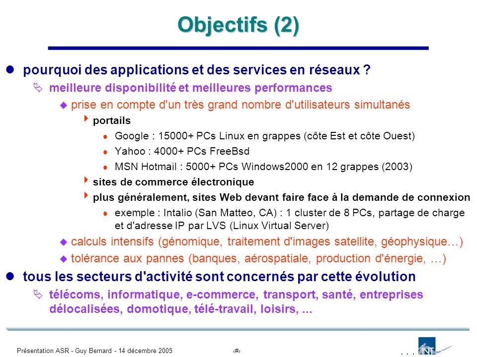 Objectifs (2) pourquoi des applications et des services en réseaux