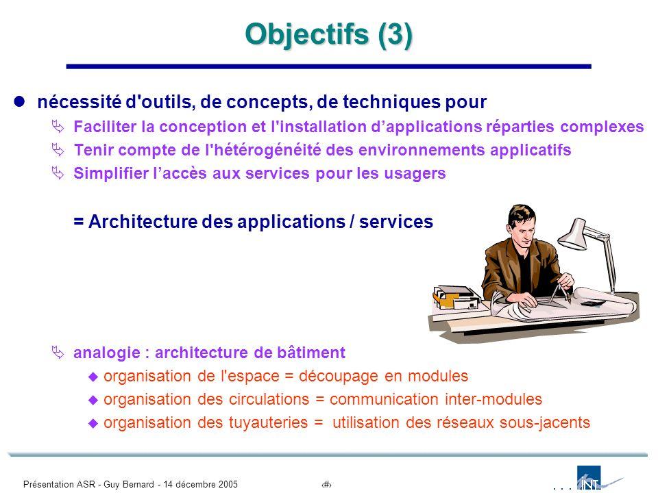 Objectifs (3) nécessité d outils, de concepts, de techniques pour