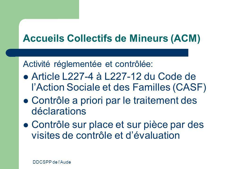 Accueils Collectifs de Mineurs (ACM)