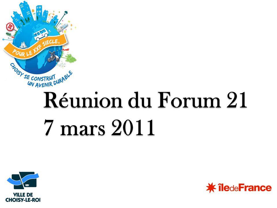 Réunion du Forum 21 7 mars 2011