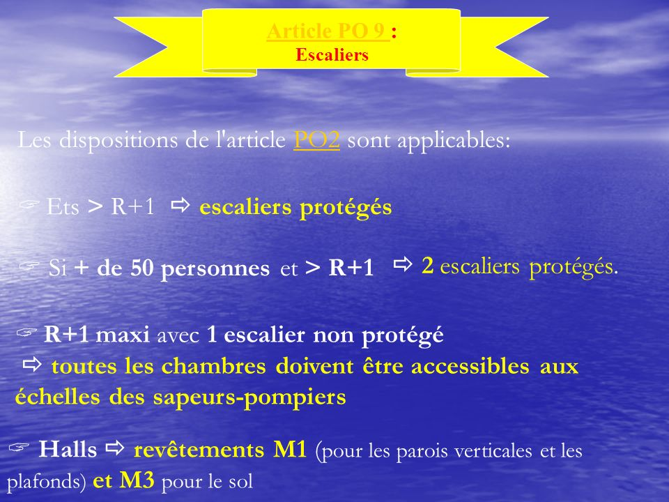 Les dispositions de l article PO2 sont applicables: