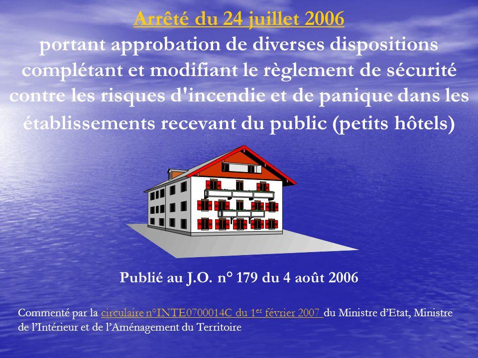 Congrès URSP SM du 1/06/2007 Arrêté du 24 juillet 2006.
