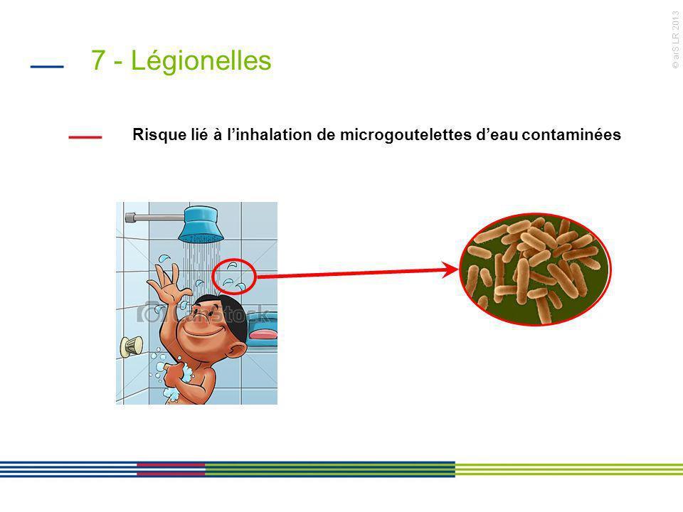 7 - Légionelles Risque lié à l'inhalation de microgoutelettes d'eau contaminées