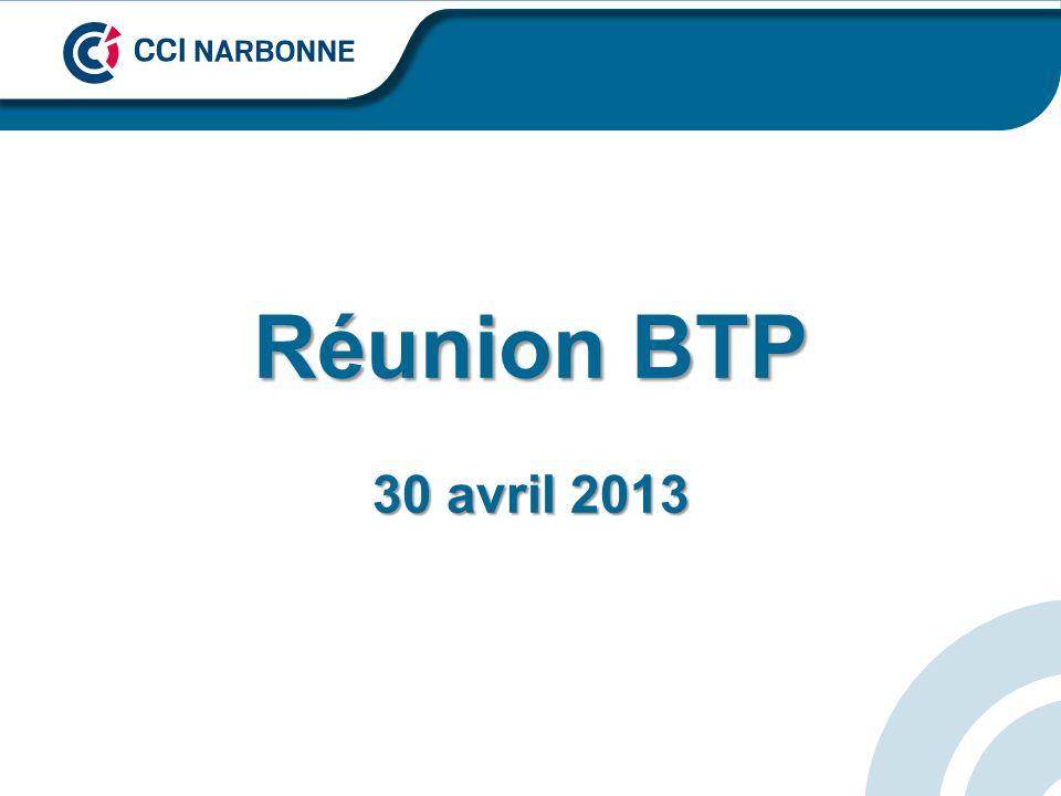 Réunion BTP 30 avril 2013