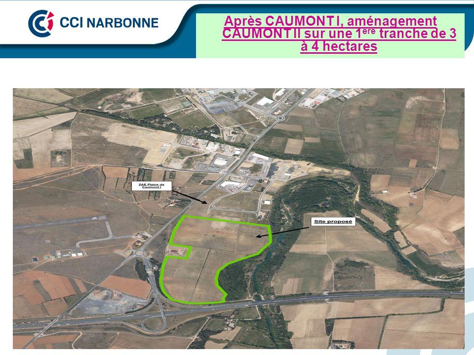 Après CAUMONT I, aménagement CAUMONT II sur une 1ère tranche de 3 à 4 hectares