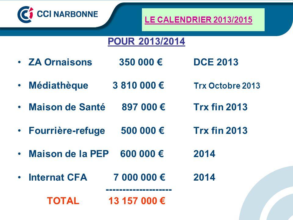 Médiathèque 3 810 000 € Trx Octobre 2013