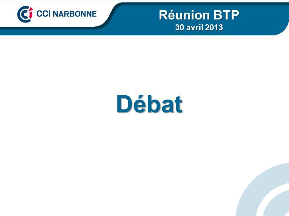 Réunion BTP 30 avril 2013 Débat
