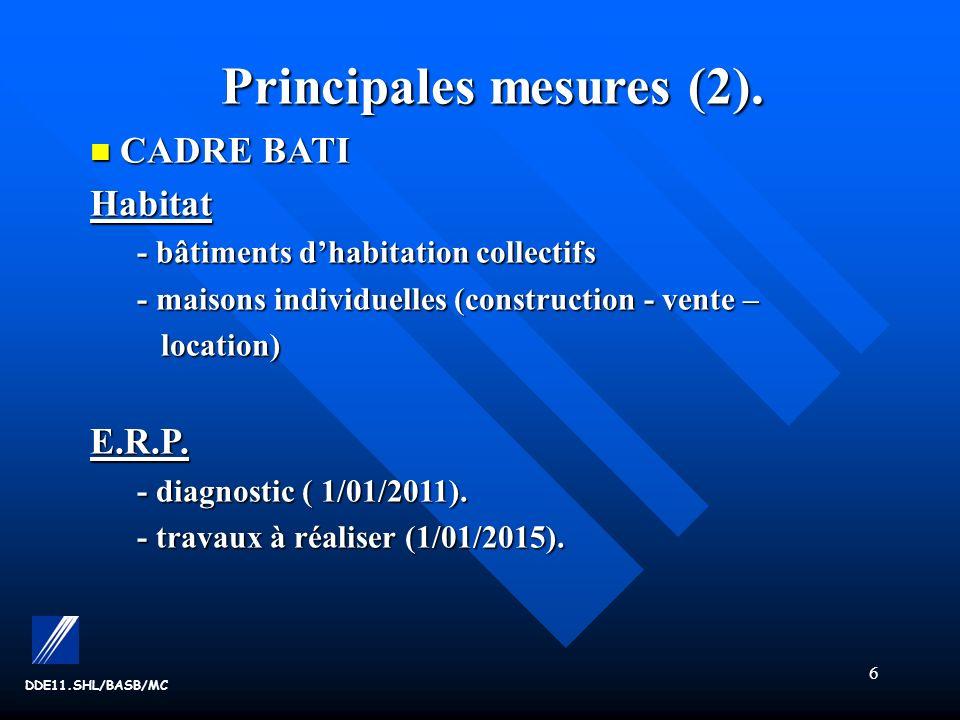 Principales mesures (2).